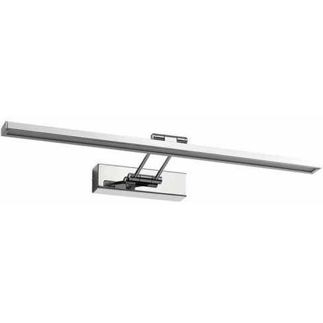 V-TAC VT-7009 8W LED Picture/Mirror Lamp movable frame or brossé blanc neutre 4000K - sku 3901