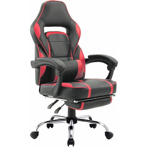 Fauteuil de bureau gamer noir et rouge LINK