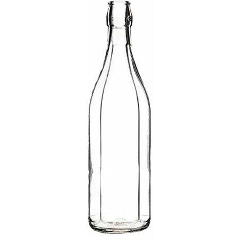 BOTTIGLIA IN VETRO 'COSTOLATA' 1000 ml bianca - tappo 7943200