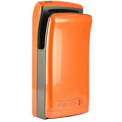 Sèche-mains Vitech automatique à double jet d'air orange 1200-1800W Séchage rapide