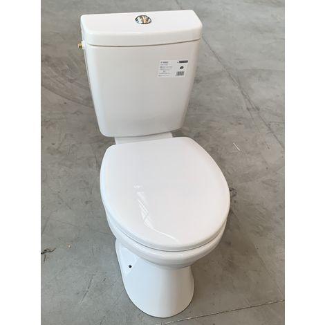 Pack WC complet pose au sol avec cuvette, reservoir, chasse d'eau 3/6l et abattant VERS'EAU ALTERNA PACK-WC