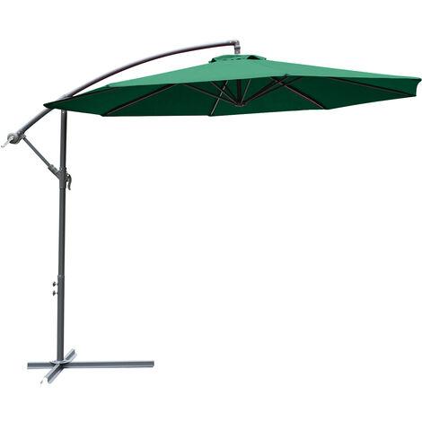 Outsunny 3m Banana Parasol Sunshade Garden Umbrella
