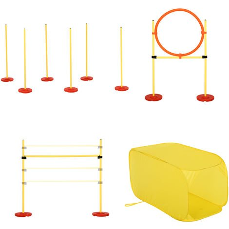PawHut Outdoor 4 PC Dog Pet Agility Training Garden Starter Obstacle Set