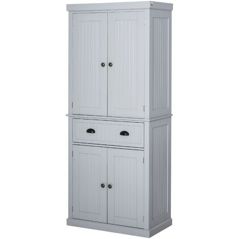 HOMCOM Freestanding Kitchen Storage Cabinet w/ Drawers Cupboards Shelves