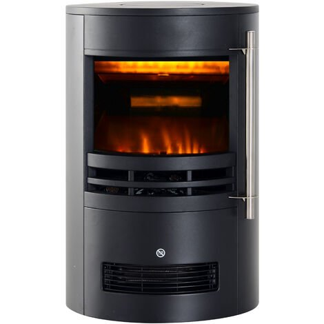 HOMCOM 1800W Freestanding Electric Fireplace Indoor Heater LED Burning Effect Flame Stove