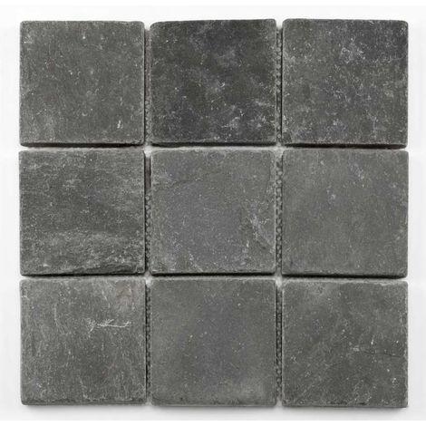 Mosaïque pierre naturelle - Black - 30,5 x 30,5cm