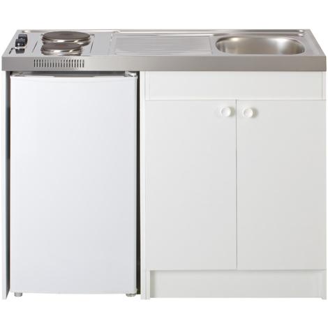 Cuisinette 2 feux électriques + réfrigérateur DF114 - Nord Inox - 1000x600mm