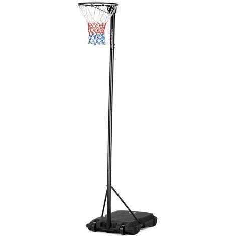 JumpStar Sports Portable Height-Adjustable Netball Stand & Hoop 10ft