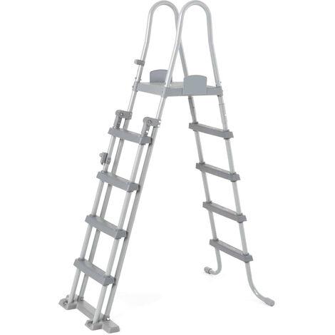 Escalera para Piscina Desmontable Bestway de 132 cm con Plataforma