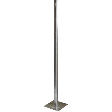 Metronic - Pie de terraza inoxidable, longitud: 1mt, diámetro: 40mm
