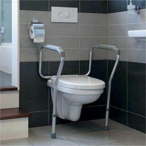 Cadre de toilettes sécurisé Liddy - 46 à 51 cm - Blanc