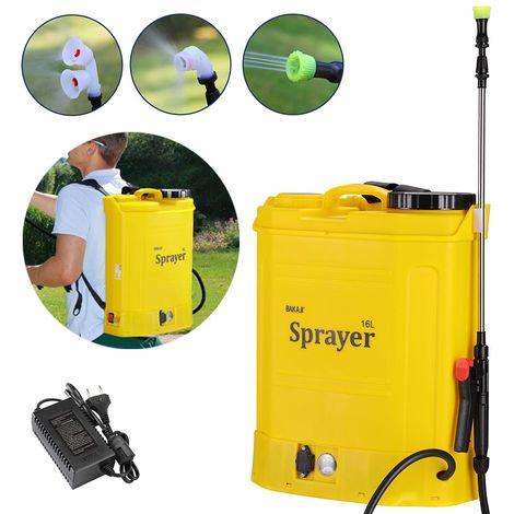 Nebulizzatore Pompa a Spalla a Batteria Irroratrice Elettrica Spruzzatore 16Lt