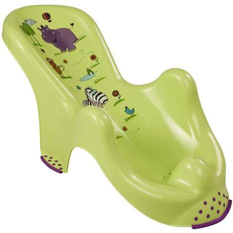 Hamaca de Baño Antideslizante Hippo, De 0 a 6 Meses, Verde