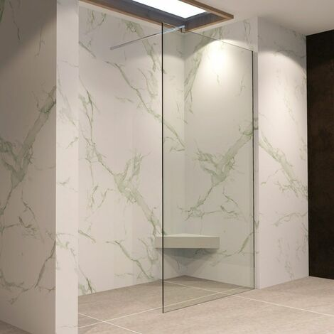 Walk In Dusche Duschwand Duschabtrennung Klarglas Edelstahl 10mm W740 - alle Größen