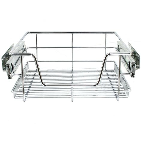 KuKoo Kitchen Pull Out Storage Baskets – 400mm Wide Cabinet (3Pack)