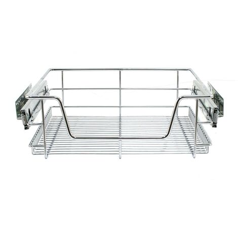 KuKoo Kitchen Pull Out Storage Baskets – 500mm Wide Cabinet (3 Pack)