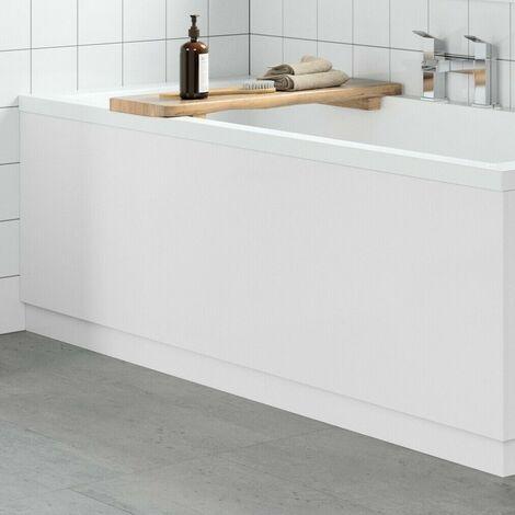 Modern Bathroom 1800mm Front Bath Panel 18mm MDF White Gloss Plinth Easy Cut