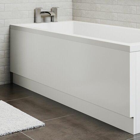 Modern Acrylic Side Bath Panel Gloss White Finish 1700 Bathroom