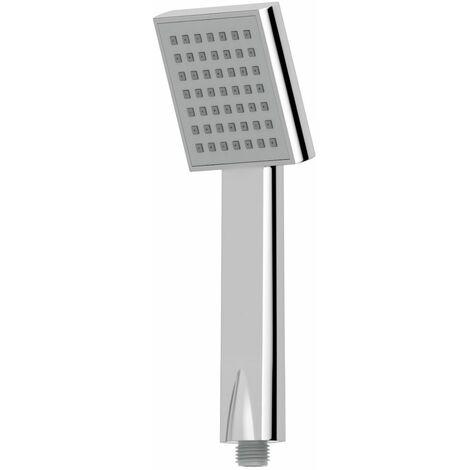 Bathroom Square Shower Handset Head Chrome 82mm Modern