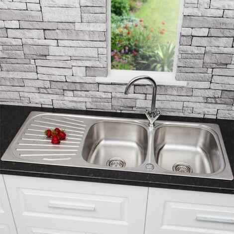 Sauber Inset Stainless Steel Sink - 2 Bowl