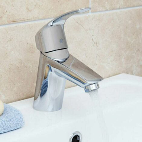 Grohe Eurosmart Basin Mixer Tap with Smooth Body