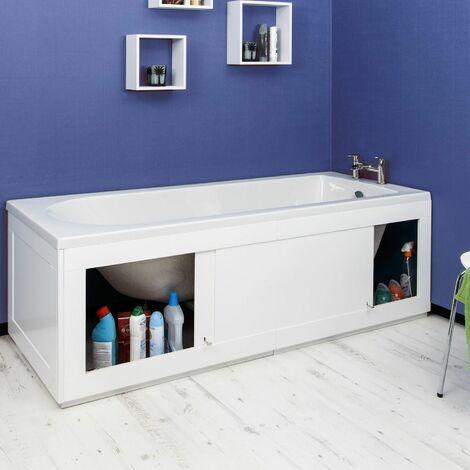 Croydex Unfold N Fit White Bath Storage Panel
