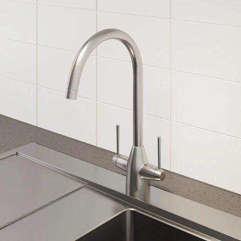 Sauber Vevey Brushed Kitchen Mixer Tap