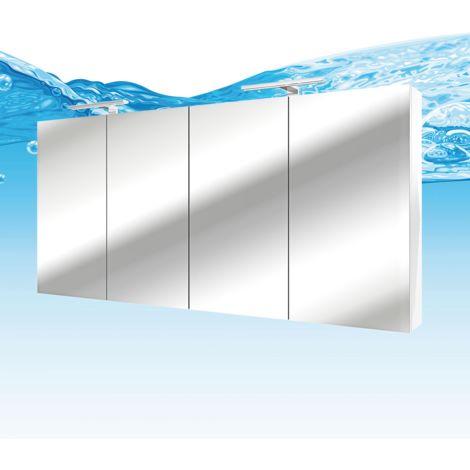 Spiegelschrank, Badspiegel, Badezimmer Spiegel City 160cm weiß