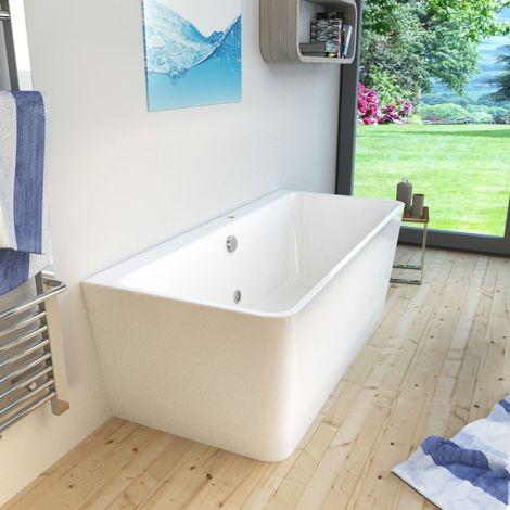 AcquaVapore freistehende Badewanne Wanne FSW15 170x80cm Whirlpool Luftmassage