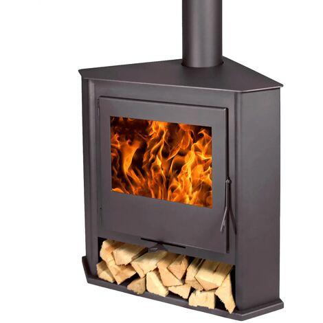 Estufa de rincon R6 Titanium leña Doble combustion 8Kw A+