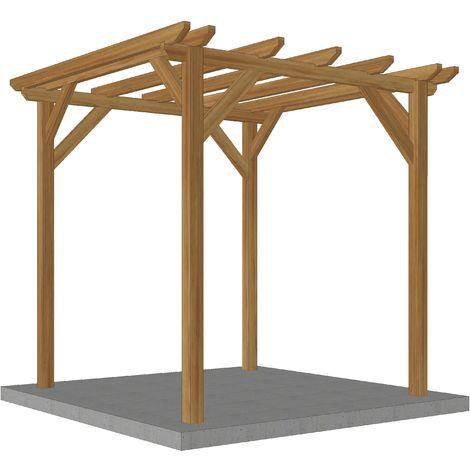 Pergola en bois massif   2.3 x 2.3 m