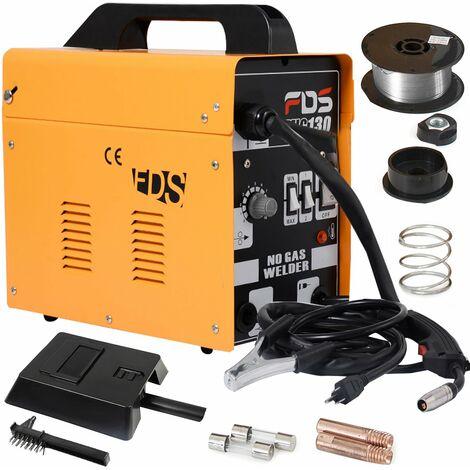 COSTWAY Ampere Schweissgeraet MIG 130 Schweissmaschine FLUX Schutzgas Elektrodenschweissgeraet Fuelldraht