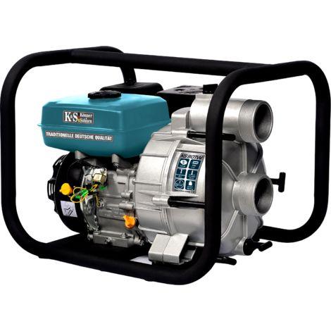 KS 80T W Schmutzwasserpumpe, 7.0 PS, 20x25mm Partikelgröße, 950 l/min, 25m Förderhöhe, 8m Ansaugtiefe, 80mm, Aluminium Gehäuse, Effizienter Kraftstoffverbrauch, Motorpumpe für schmutziges Wasser