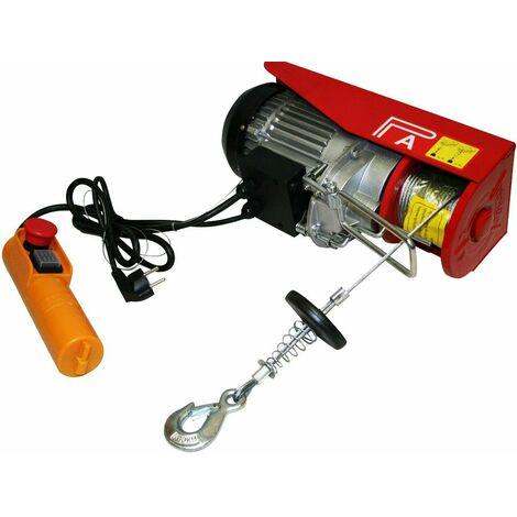 Varan Motors - var-PA500M Treuil palan électrique 230V 250 / 500KG 1020W avec télécommande - Rouge