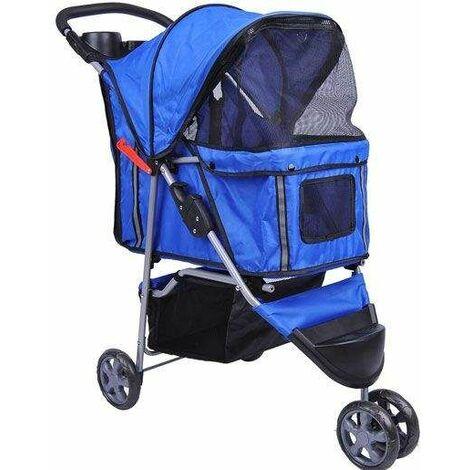 Bc-elec - 5663-0015Ablue Poussette pour animaux à 3 roues, coloris bleu - Bleu