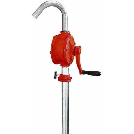 Varan Motors - NEOP-03 Pompe à manivelle, pompe à fûts et barils pour huile, fuel, diesel - Rouge