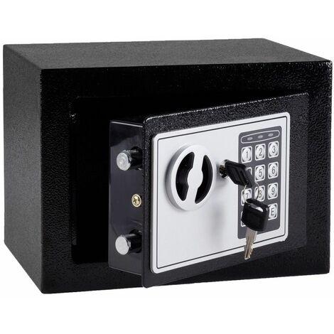Bc-elec - 5417-1207 Coffre-Fort serrure à combinaison digitale + clés 23x17x17 cm - Gris