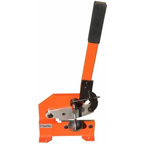 Varan Motors - NEHDS-02 Cisaille à levier manuelle pour tole, couteau de 150mm, épaisseur maximale de 11mm - Orange
