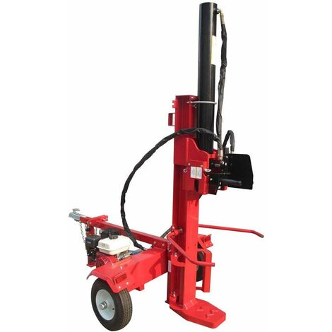 Varan Motors - NEPLS-03 Fendeuse thermique verticale 6.5cv tractable, Pression 26 Tonnes, Buche jusqu'à 105cm - Rouge