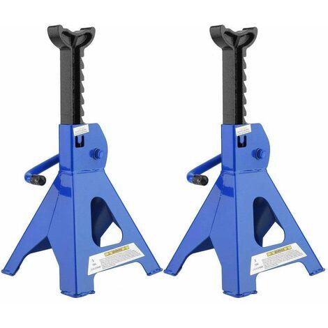 Varan Motors - HPBD-1 Paire de chandelles a cremaillere 3 Tonnes, 27-41cm - Bleu