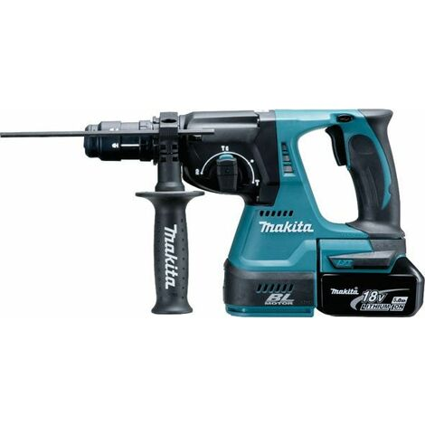 Makita Perfo-burineur SDS-Plus 18V, 2x Batterie 5Ah, Chargeur DC18RC - DHR243RTJ