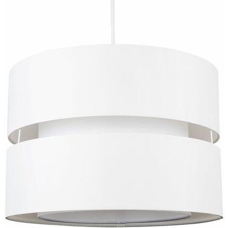 2 Tier & Ceiling Pendant Light Shade - Black & White - Black