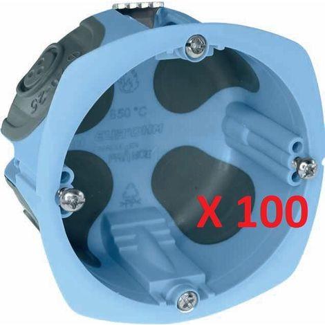 Lot de 100 Boîtes d'Encastrement XL AIR'Métic 52061-100 EUR'OHM Étanche Cloisons Sèches 67x40