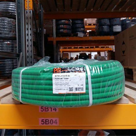 Gaine ICTA Ø20mm PM Plastic Vert 100m avec Tire-Fil