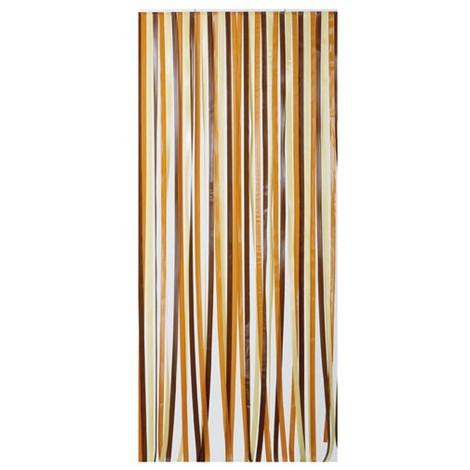 MOREL - Rideau de porte en polyéthylène - Antilles - 90x200 cm - brun et beige