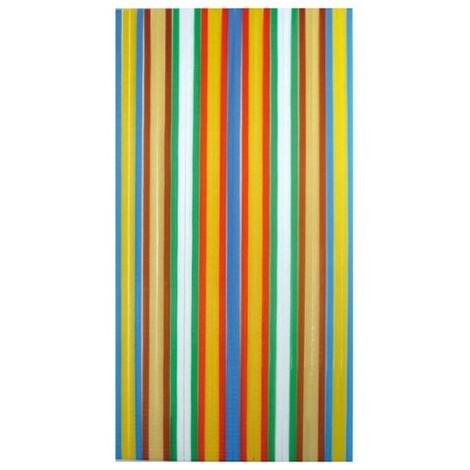 Rideau de Porte à lanières Antilles Multicolore 90 x 220 - MOREL