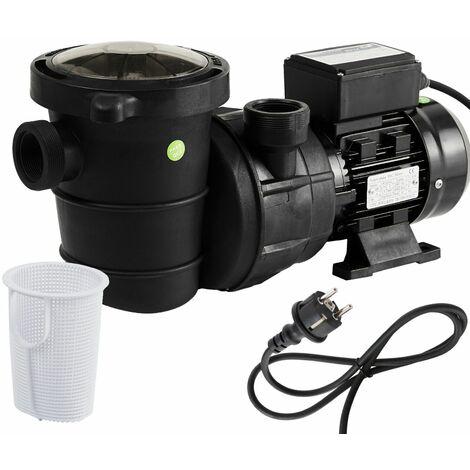 AREBOS Bomba Depuradora para Piscina Bomba de Agua 600W 11000l/h - negro / rojo