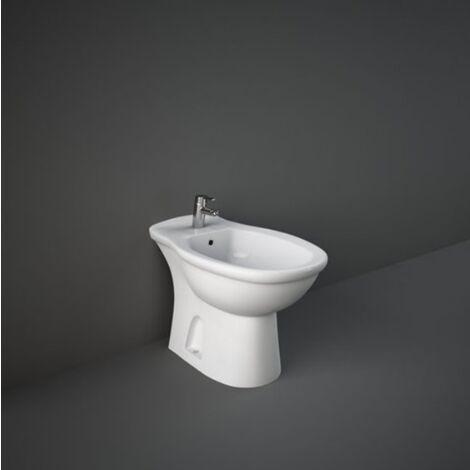 Boden-Bidet aus keramik 36,5x58 cm serie Oxford   Glänzendes Weiß - Standard