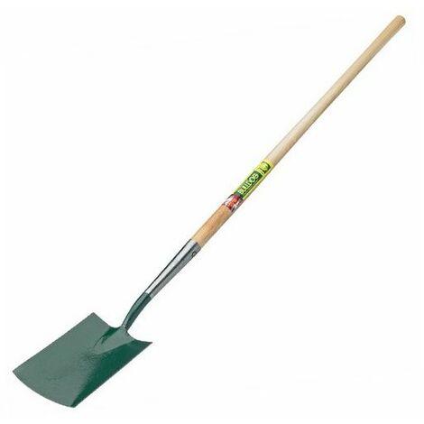 """Bulldog 7101LPH48N Premier Digging Spade Long 48"""" Wooden Handle"""