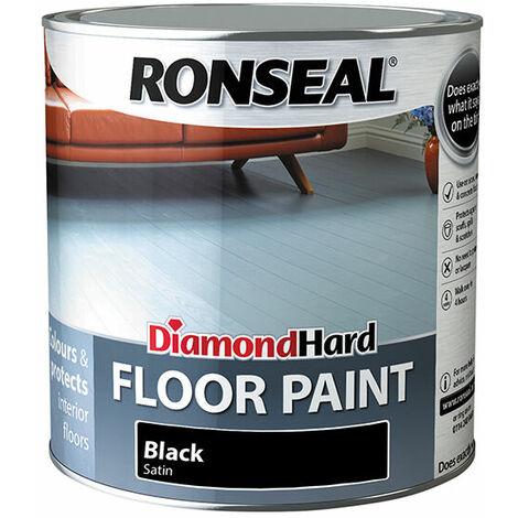 Ronseal 36628 Diamond Hard Floor Paint Black 2.5 Litre